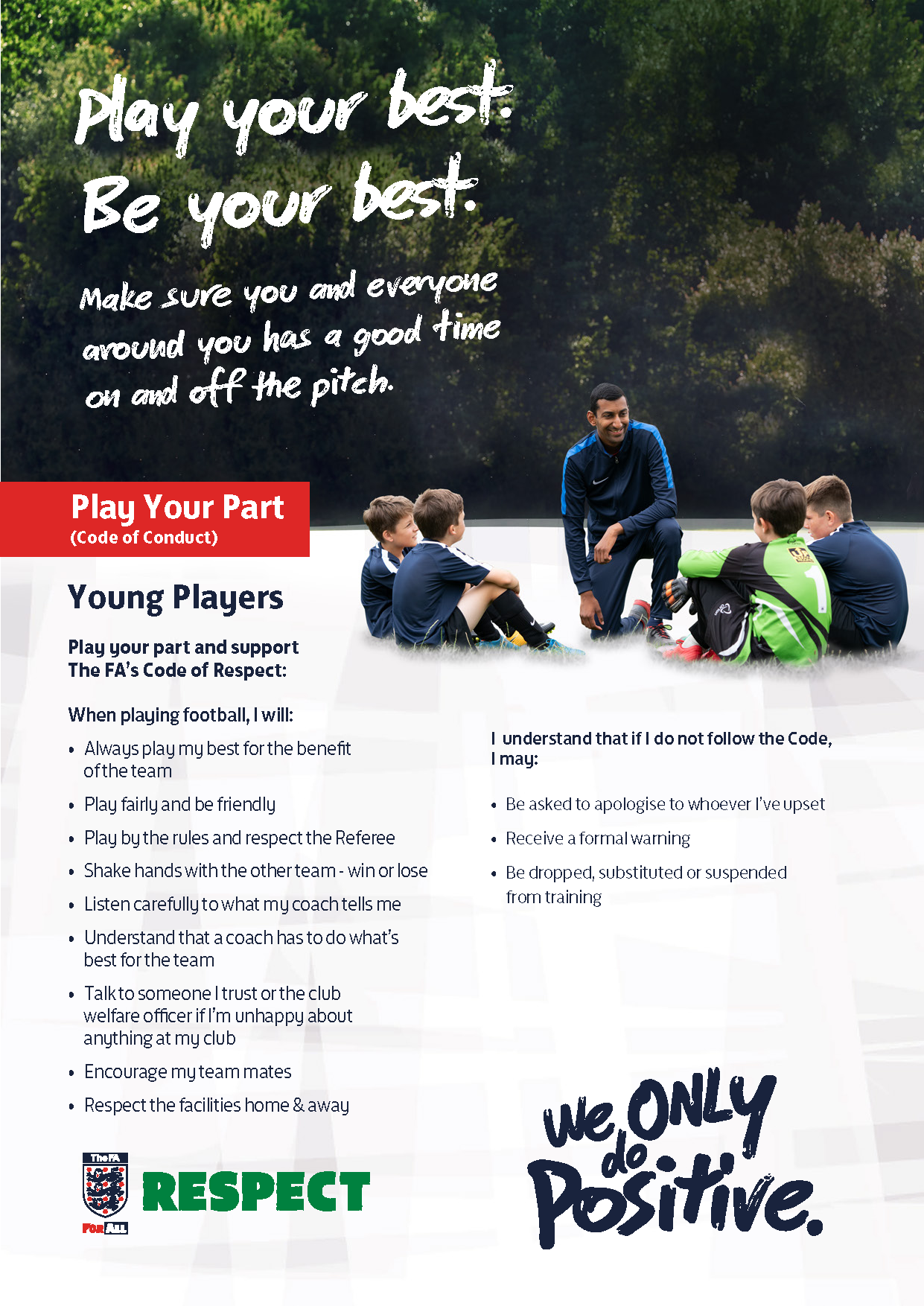 Youth Players code of conduct