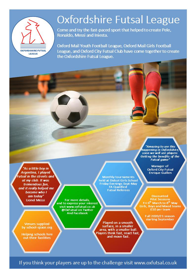 Oxfordshire Futsal League leaflet